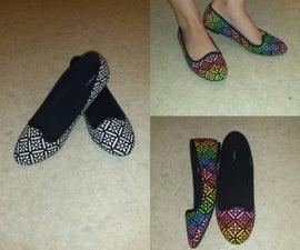 Rainbow Glitter Shoes