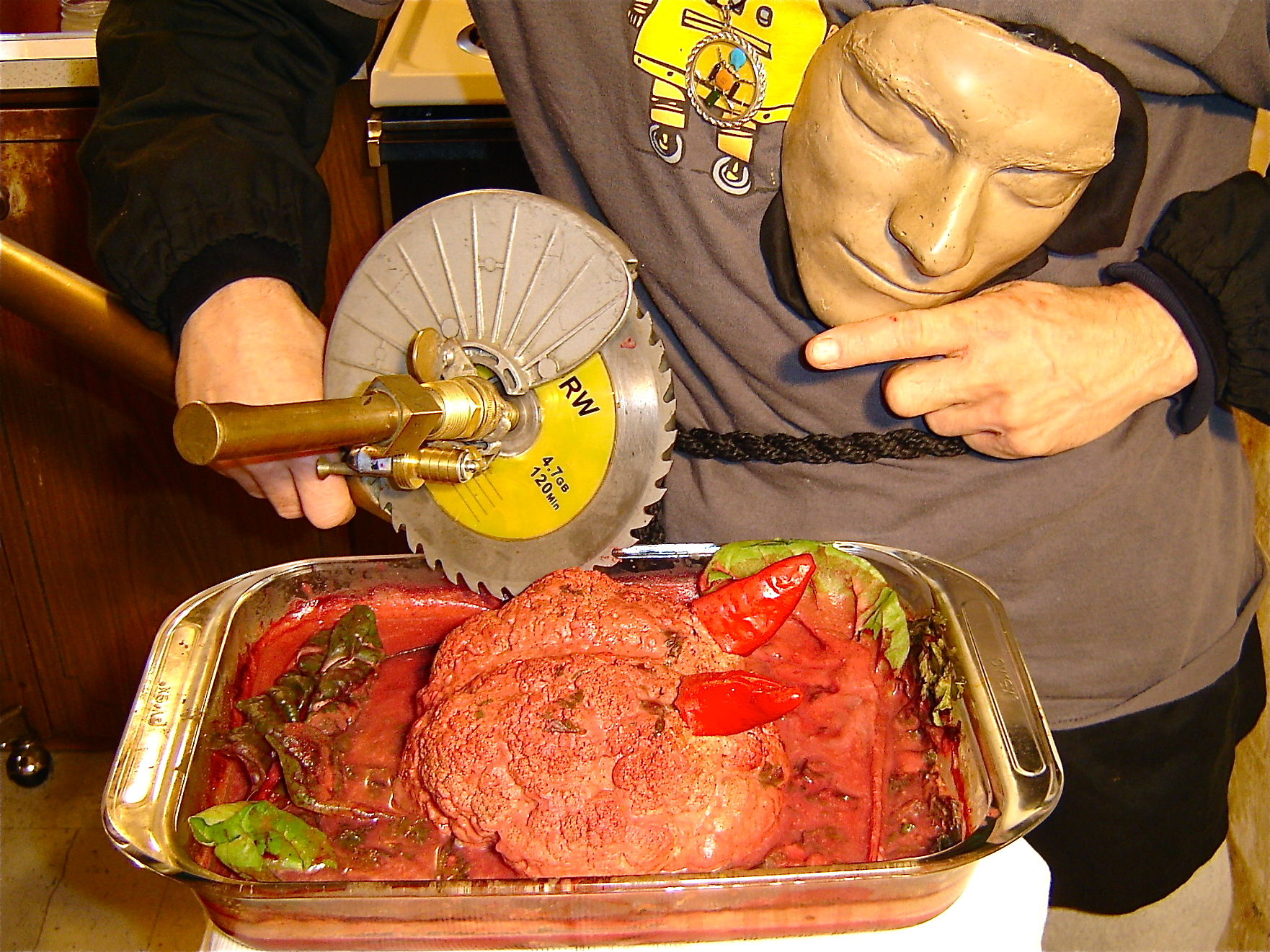Picture of Baked Devil's Brain in Blood Sauce