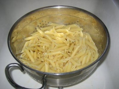 Strain the Pasta and Mix in the Sauce.