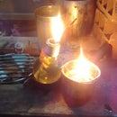 velas de aceite usado