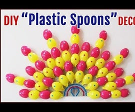 Best Out Of Waste Crafts : DIY Plastic Spoon Room Decor.