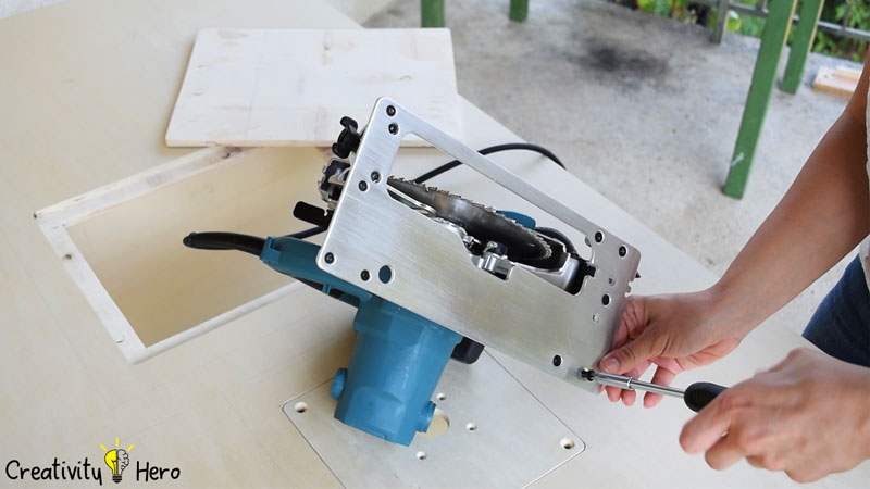 Picture of Turning the Circular Saw Into a Table Saw.