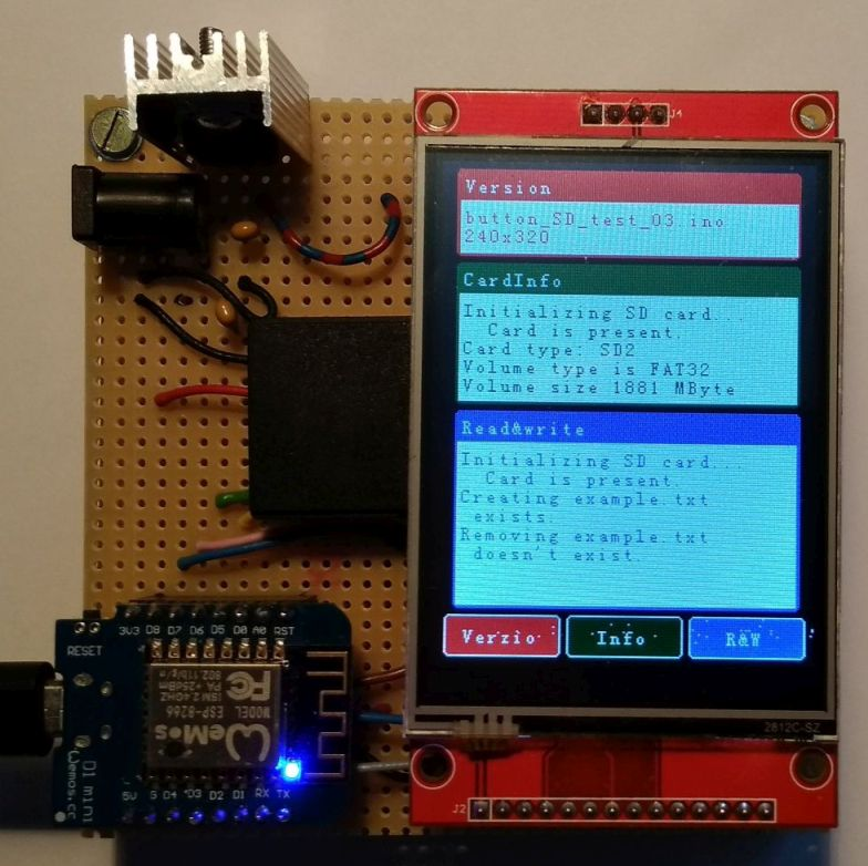 Picture of ILI9341 Touch Shield for Wemos D1 Mini