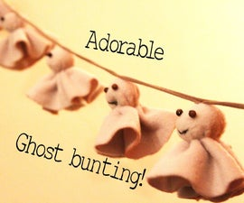 Super adorable ghost bunting