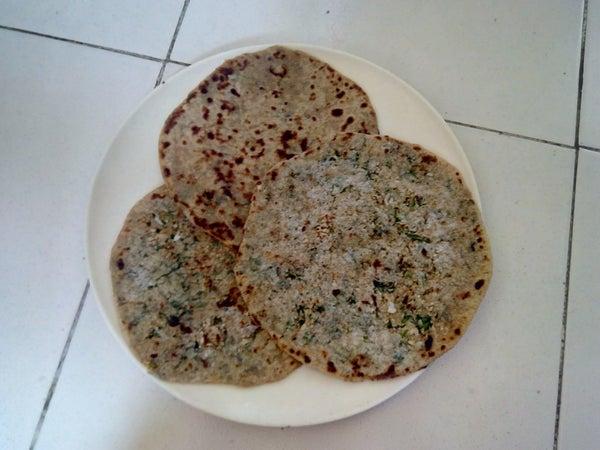 Gobi paratha- cauliflower stuffed flat bread