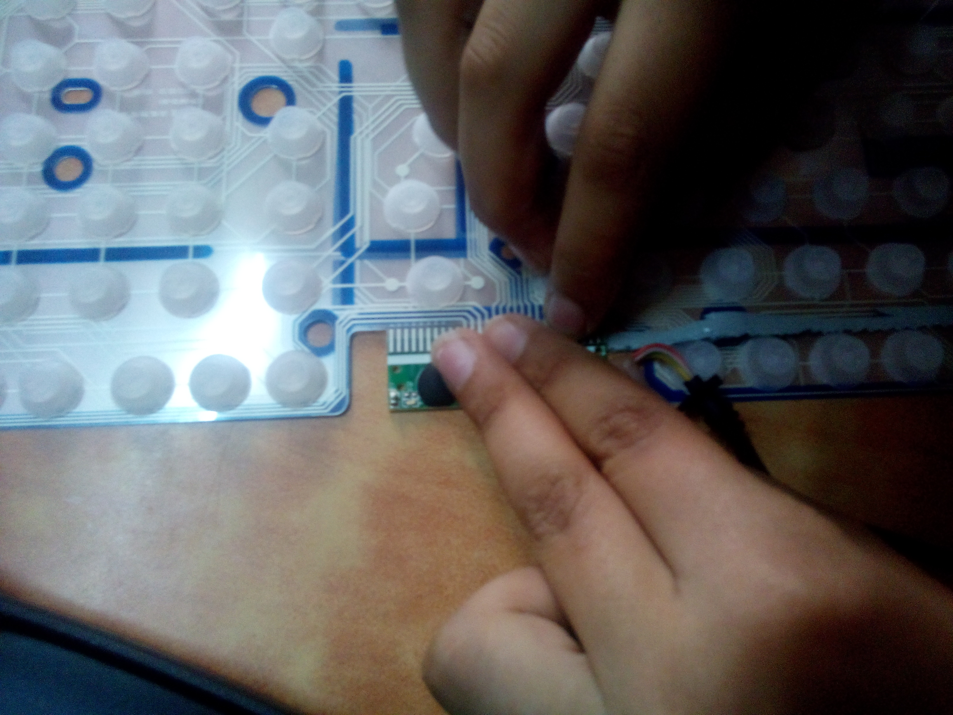 Picture of Connecting the Circuit Board and the Sheet