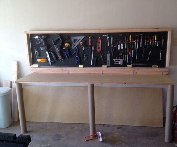 Wall-Mounted Folding Workbench