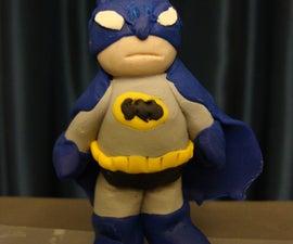 Mini Sculpey Batman (Grey & Blue)