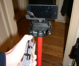 no-cost, 5-minute Steady-Cam rig using a tripod and household materials