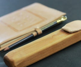 Wood & Leather Pencil Case