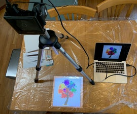 Drip Art Using a Projector: Everybody Can Art!