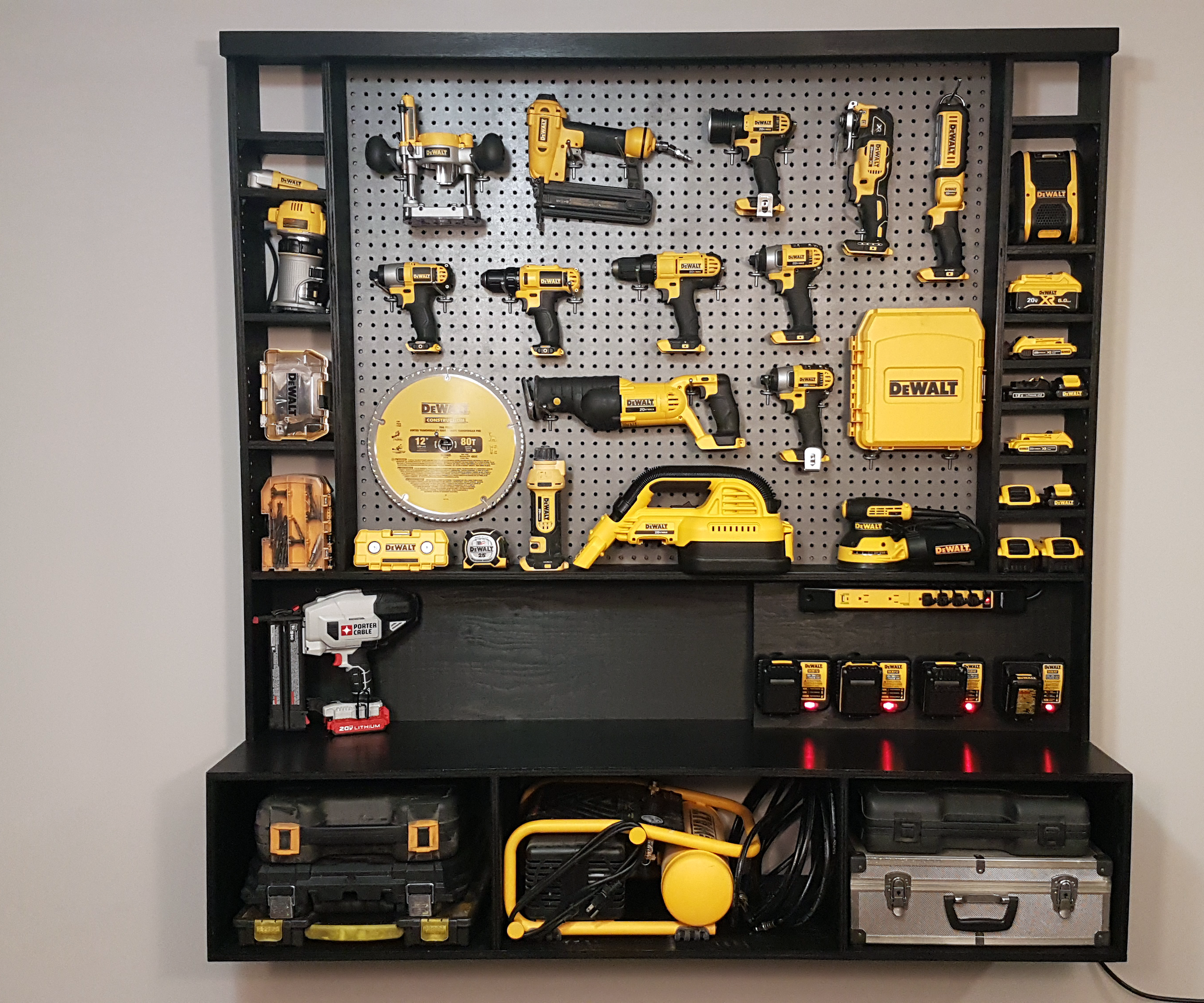 Diy Power Tool Storage W Charging Station 10 Steps With