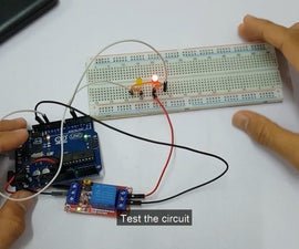 Make Timer to LED by Using Single Channel 5V Relay Module