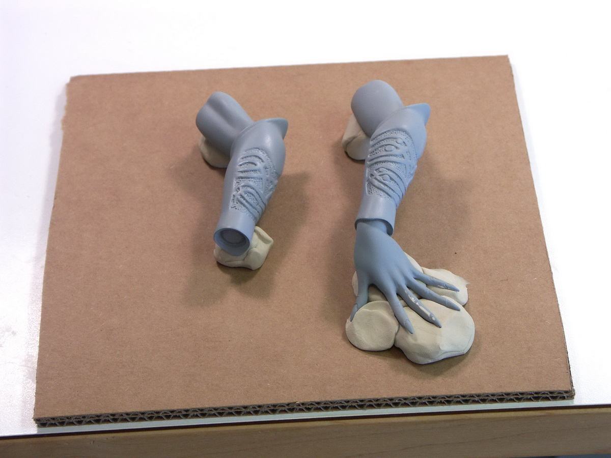 Picture of Casting the Arms & Making Interim Cast Parts