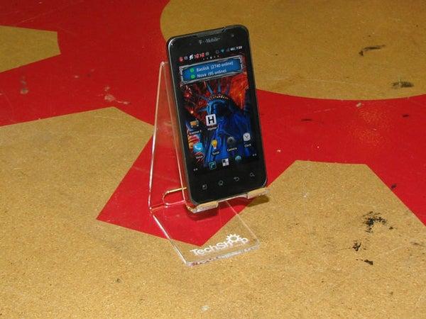 MAKE a LASER CUT ACRYLIC SMART PHONE STAND