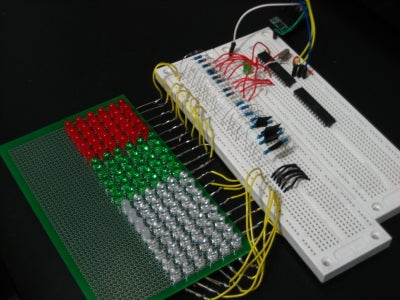 GEEKS ARE KEWL: Arduino-Controlled 18x6 LED Matrix (in Progress)