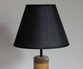 Rainbow Marble Table Lamp