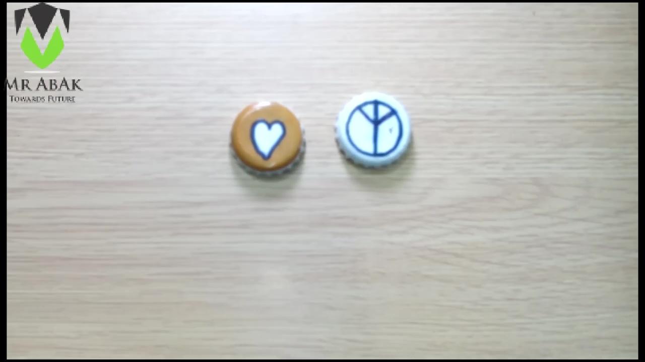 Picture of Bottle Cap Fridge Magnets : Painting the Caps