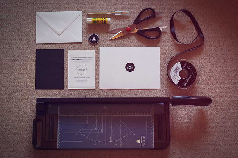 Picture of Assemble Your Items in a Hipster Layout on Your Carpet. Everything Ready to Put Together! You'll Need Scissors, Glue, a Scalpelly Thing, Some Satin Black Ribbon and Your Own Personally Designed Fridge Magnet.