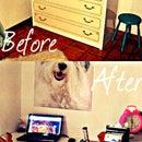 Bedroom Makeover: Hidden desk