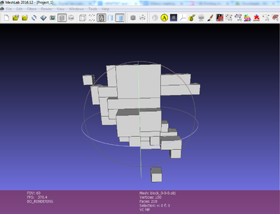 View the 3D Object on Meshlab