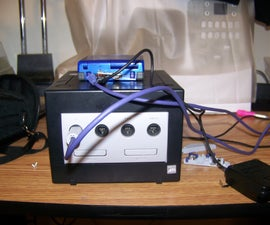 Charge a Game Boy Advance SP and still have it plugged into a Gamecube!