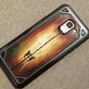 Colorful Sunset Silhouette DIY Painted Phone Case