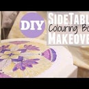 Side Table Makeover with Adult Colouring Book