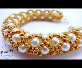 Gold Netted Bracelet | How to Tutorial