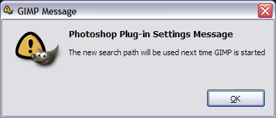 Picture of Configure the GIMP PhotoShop Plug-In