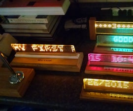 LED on GLASS DISPLAY