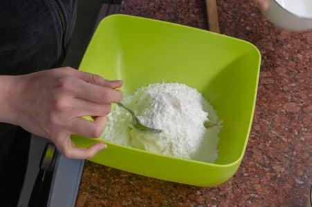 Mix the Lard and Sugar