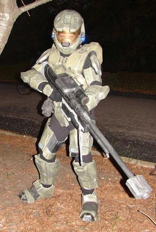 Cardboard/Fiberglass Halo 3 Inspired Master Chief Costume