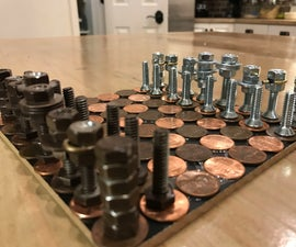 Metalic Chess Set From Scrach