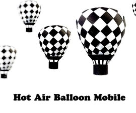 Paper Hot Air Balloon Mobile