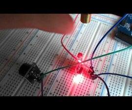 Visuino - Perimeter Protection With Laser Detector Using Arduino