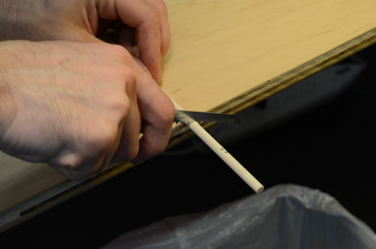 Picture of Cut the Wooden Dowels