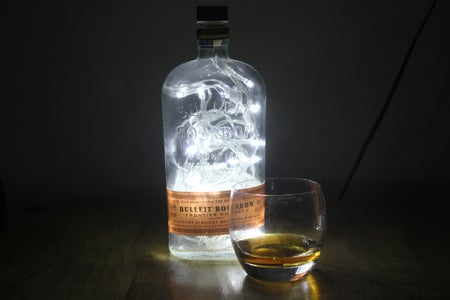 Make a Cool Light From a Whiskey Bottle