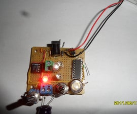 LED Nightlight and Laser Light Show Using 4017 and 555.