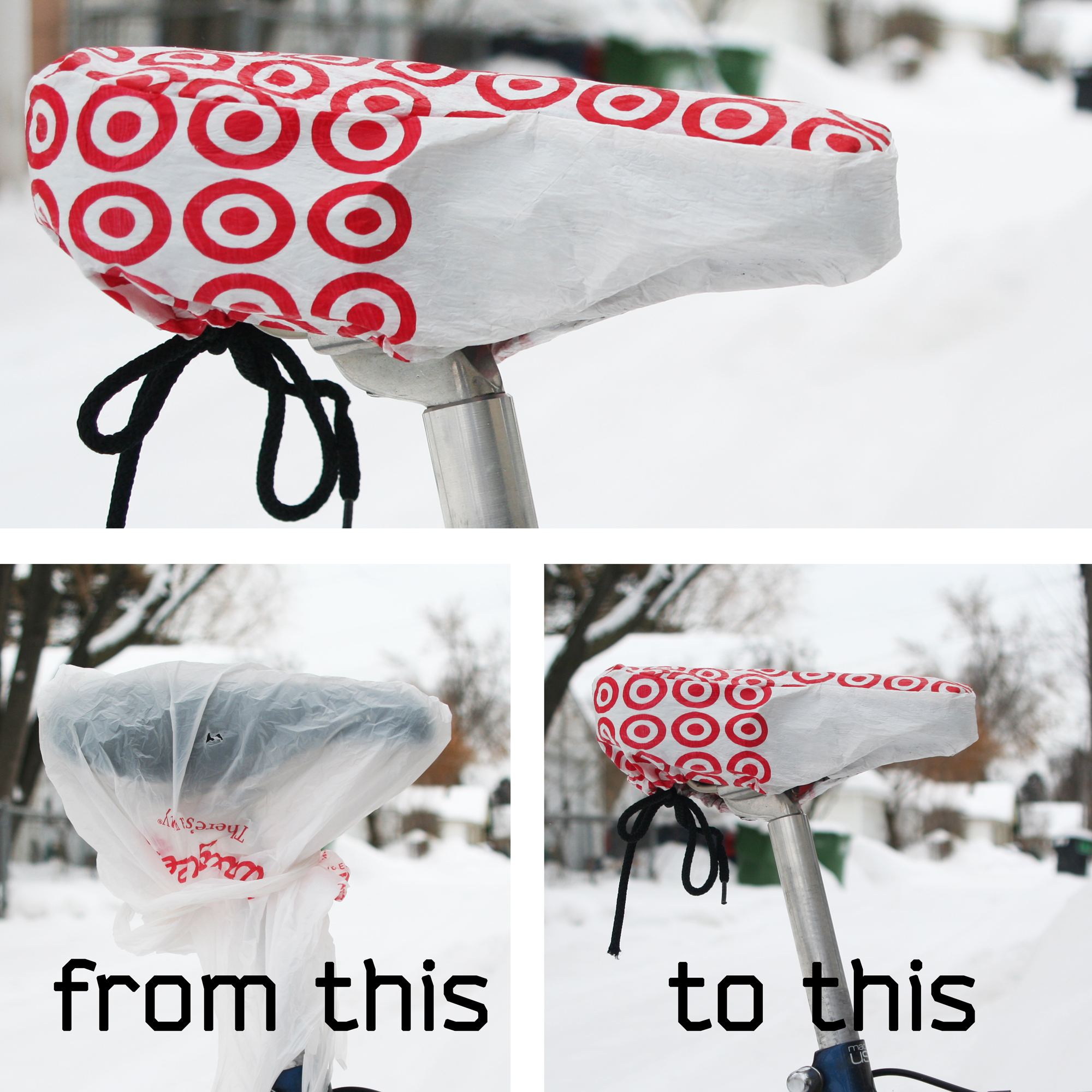 Picture of Plastic Bag Bike Seat Cover
