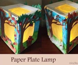 DIY Paper Plates Lamp: Making Lamp Using Paper Plates
