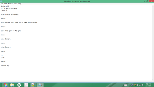 Type the Code Into the Text Document.