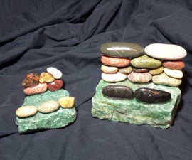 Natural beach stone tablet / cell phone holder and business card holder!!