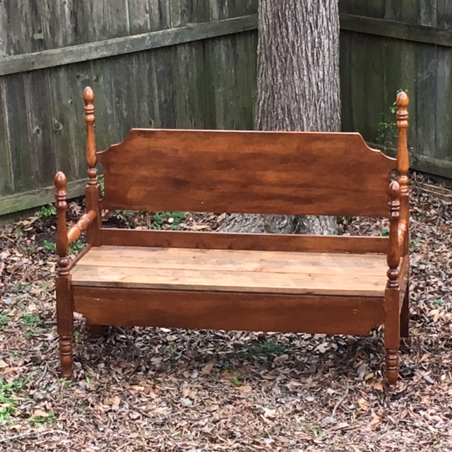 Picture of Build a Bench From an Old Bed Frame (video Included)