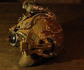 steampunk helmet, mask, movie prop....