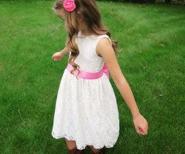 Easy DIY Flower Girl Dress