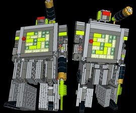 LEGO Game Boy Transformer Official Parts List and Instructions
