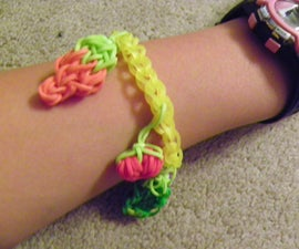 Rainbow Loom Vegetable Garden Bracelet