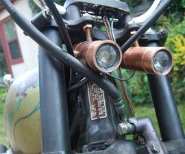 Twin High-Power LED Motorcycle Headlights