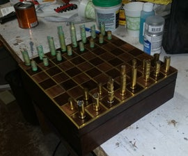 Gun Shell Chess Set